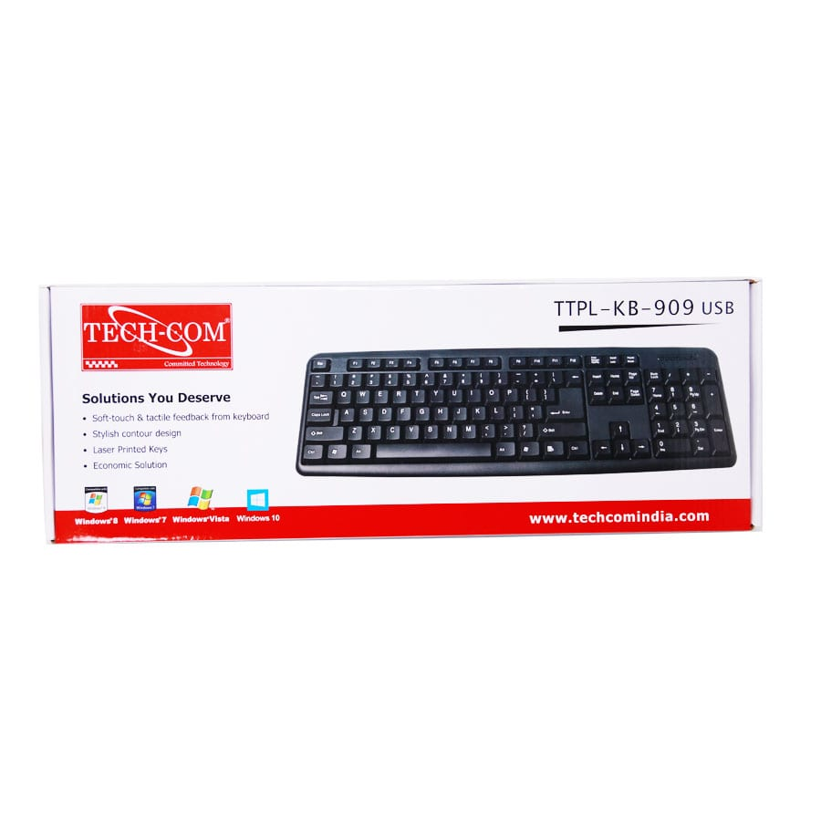 TTPL-KB-909 USB Techcom Wired Keyboard
