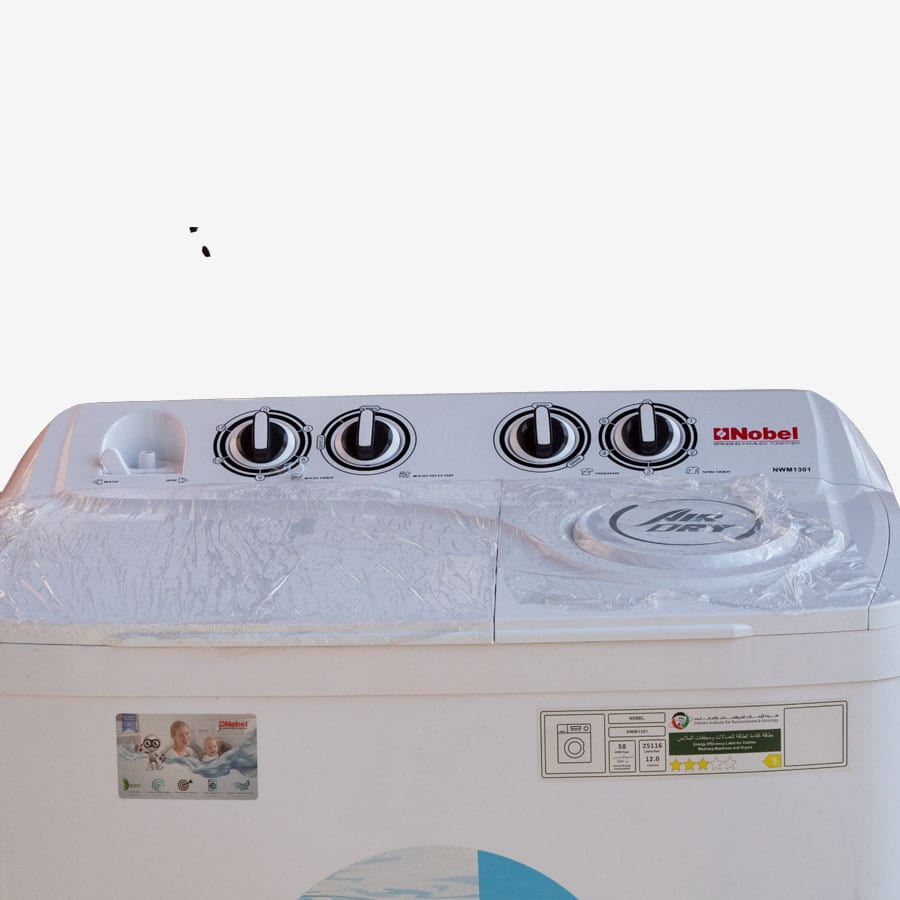 NWM1001 NOBEL TOP LOAD WASHERS WHITE 8KGS TWIN TUB