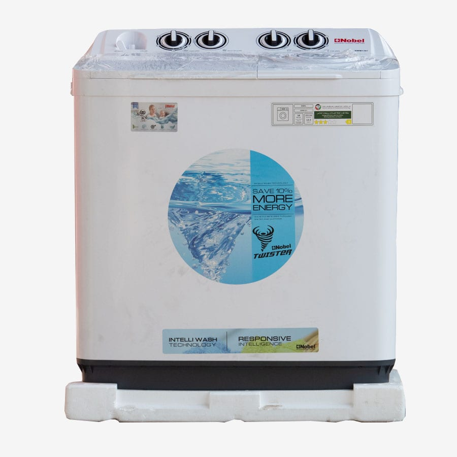 NWM1301 NOBEL TOP LOAD WASHERS WHITE 12KGS TWIN TUB