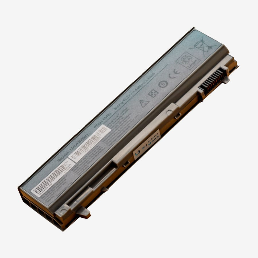 Replacement Battery for Dell Latitude E6400 E6410 E6500 11.1V 4400mA( Silver)